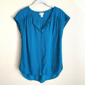 Stylus short sleeve blue and black top